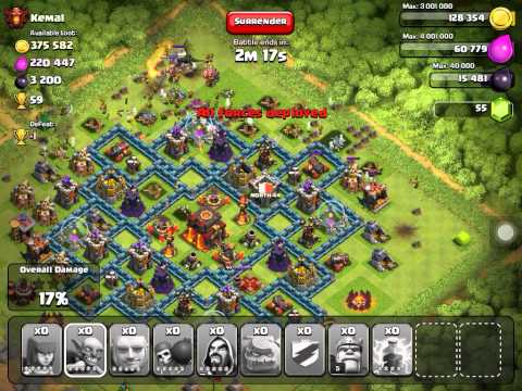 ATTACKING KEMAL! Clash Of Clans!