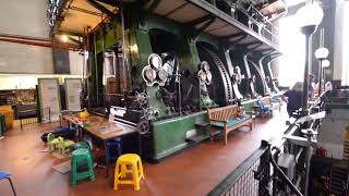 Kempton Park  Big Triple Steam Engine Starting