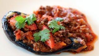 Stuffed Eggplant (karniyarik) - Turkish Recipe - Cookingwithalia - Episode 323