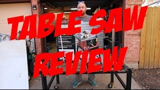 Harbor Freight Table Saw Unboxing and Review  #63118