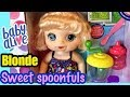 BABY ALIVE SWEET SPOONFULS BLONDE DETAILS and FEEDING