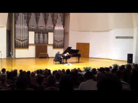"Daniel Pollack: ""Un Sospiro"" by Liszt at Almaty, Kazakhstan's Conservatory Hall"