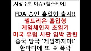 [시장주도 이슈+헬스케어]FDA 승인 흡입형 출시!!셀…