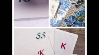 British Monogrammed Napkins