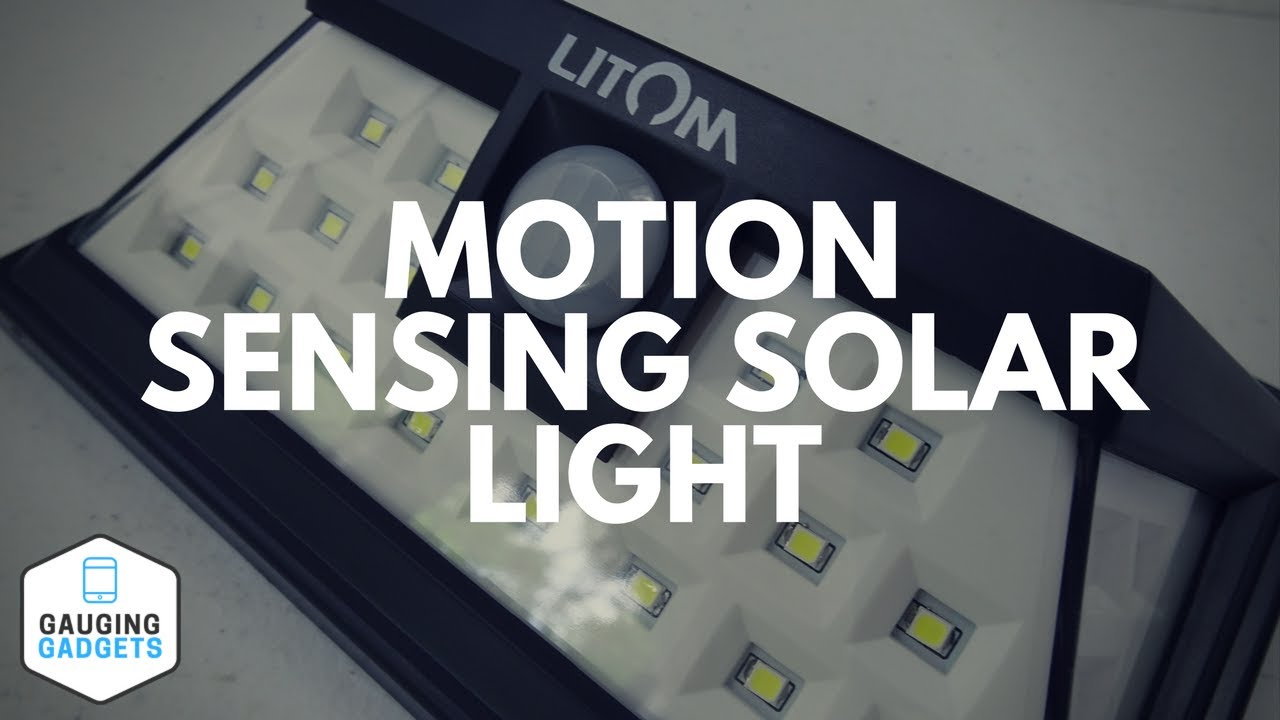 Litom 24 Led Motion Sensor Solar Light Review Outdoor Waterproof Security Lights