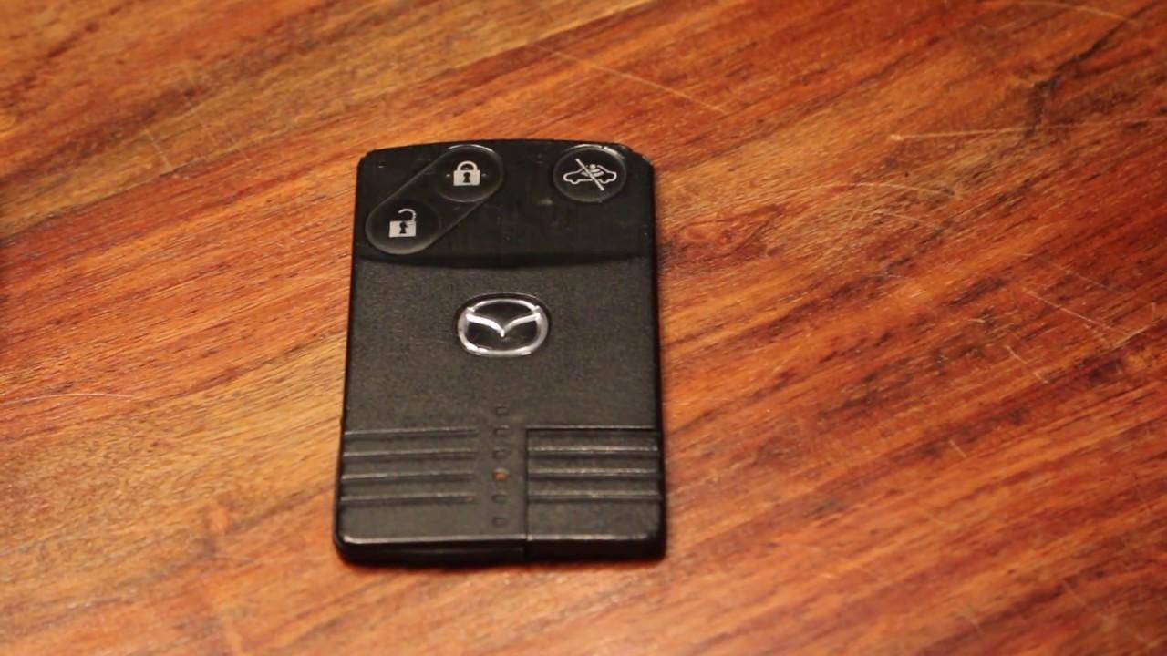 batterie wechseln bei einer mazda keycard