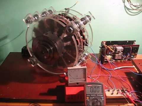 схема двигателя на неодимовых магнитах