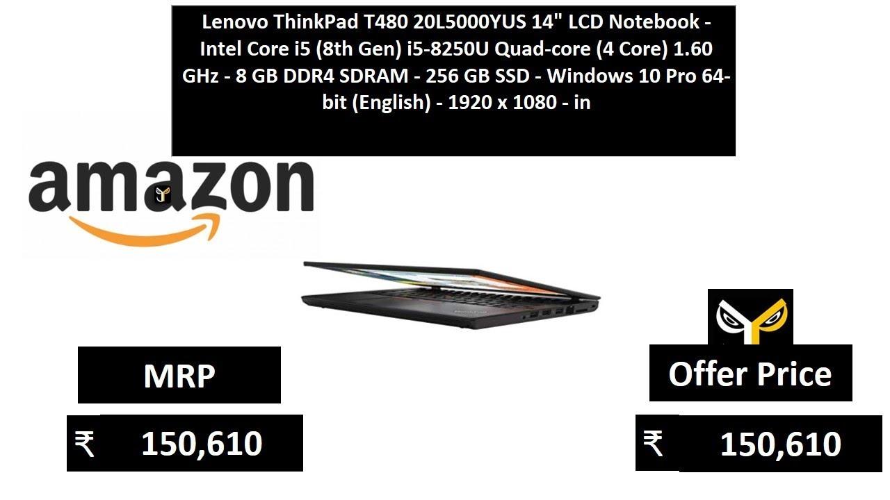 Lenovo ThinkPad T480 20L5000YUS 14 LCD Notebook - Intel Core i5