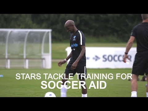 Celebrities Train Ahead Of Soccer Aid 2018