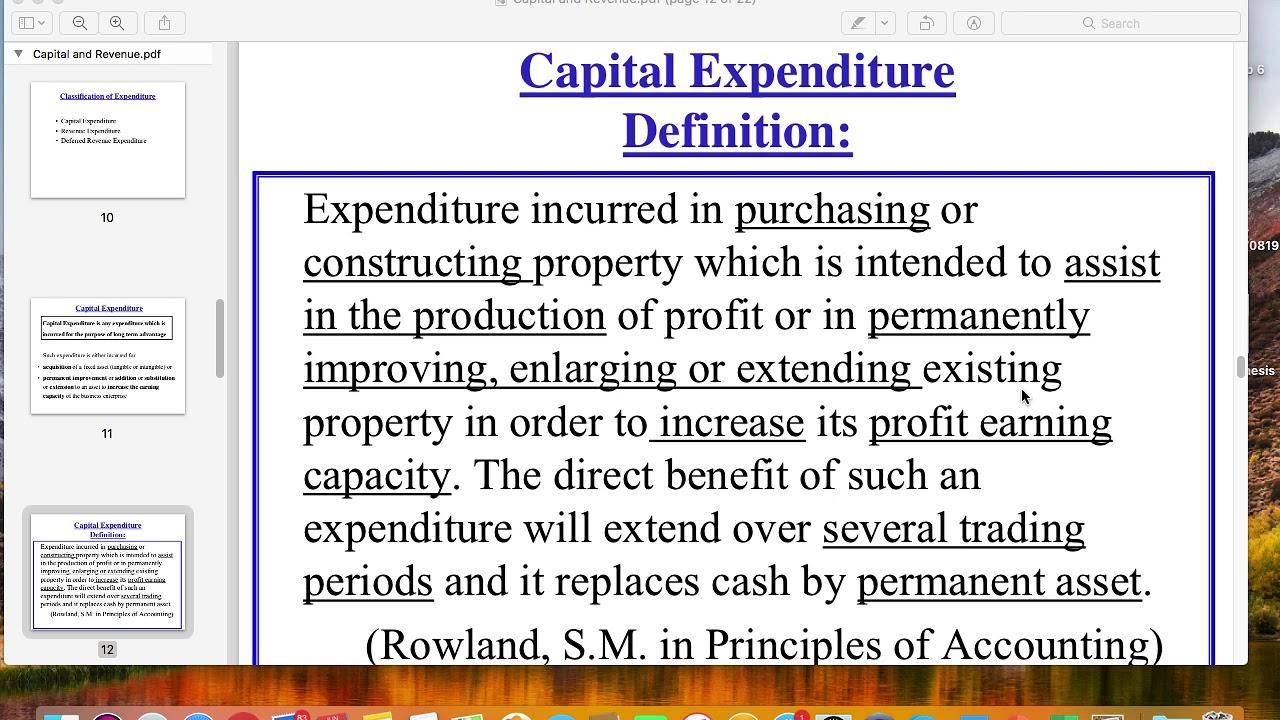 what is expenditure in economics