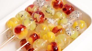 노 젤라틴! 과일 곤약 젤리 만들기 Fruit konjac jelly recipe