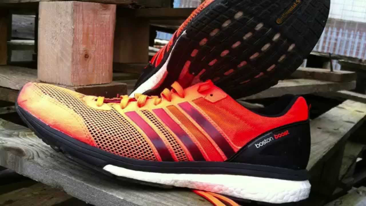 hot sale online 461cf 09cc7 REVIEW Adidas Adizero Boston Boost Running Shoes - YouTube
