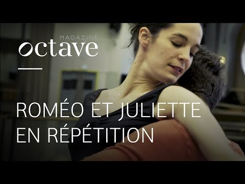 Romeo and Juliet in rehearsal (Hugo Marchand & Amandine Albisson)