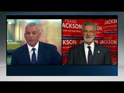 Russ Mitchell interviews Frank Jackson after Mayoral Primary win