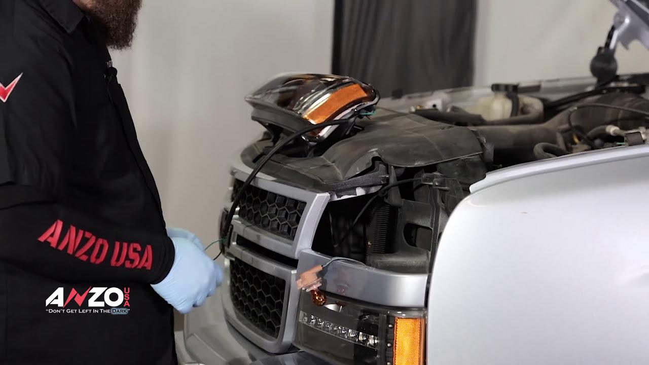2001 chevy silverado 1500 headlight wiring diagram cobalt anzousa 2003 2006 u bar headlights and led parking light installation