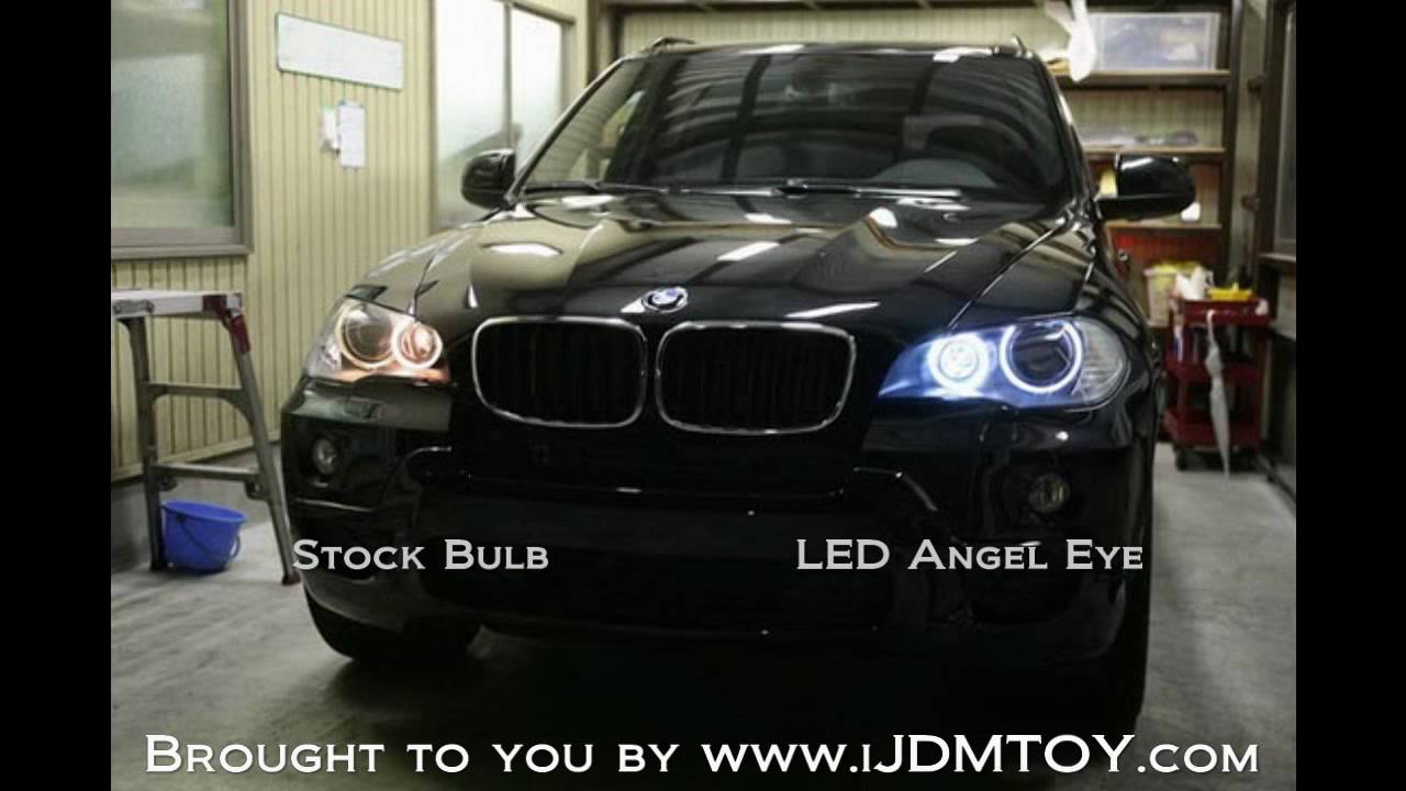 Ijdmtoy Bmw Angel Eyes On 2008 Bmw X5 Youtube