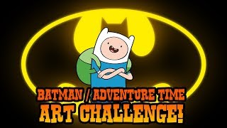 How to Draw Adventure Time Batman | ART CHALLENGE