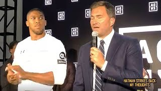 "ANTHONY JOSHUA ""NERVOUS & SHOOK"" IN AMERICA!!! DAZN PRESS CONFERENCE!!! (REACTION)"