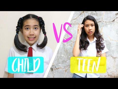 CHILD VS TEEN (BOCAH VS REMAJA) | BACK TO SCHOOL | INDONESIA | SALAM CEWE | ISABEL CEWE