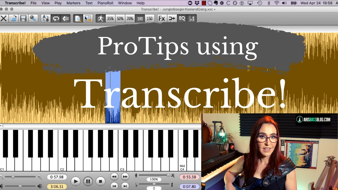 My favorite transcribing software: Transcribe!