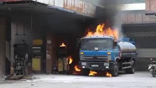 Hot: Cháy cây xăng Thăng Bình, gây thiệt hại lớn và nguy hiểm cho người dân nơi đây.