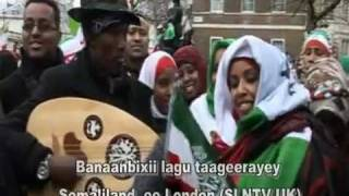London Rally for Somaliland International Recognition outside 10 Downing Street 22nd February 2012