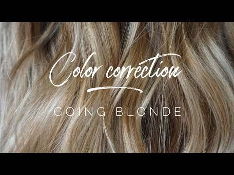 Color Correction - Going Blonde || Hair Tutorial