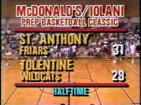 1987 Iolani Prep Classic Slam Dunk
