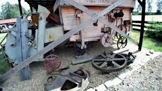 Skansen w Borówku   dawne maszyny rolnicze - Borówkowy Piknik cz. 1