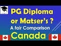 PG Diploma or Master's in Canada ?  A Fair Comparison- Study in Canada