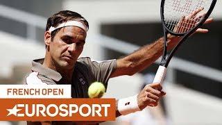 Roger Federer vs Leonardo Mayer Highlights | Roland Garros 2019 Round 4 | Eurosport