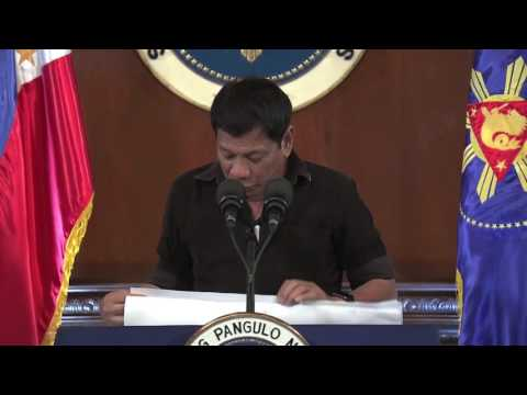 Duterte threatens top 'drug lords': You will die