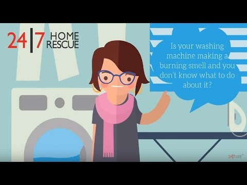 Why is my washing machine making a burning smell? - 24|7 Home Rescue