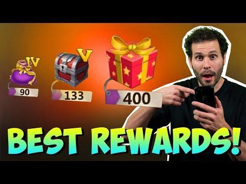 Opening BEST Rewards In Castle Clash ONETIME!!