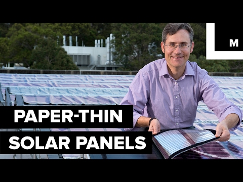 Ink used to print paper-thin solar panels