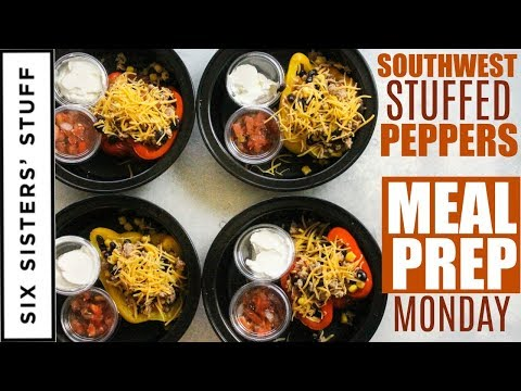 Easy Southwest Stuffed Peppers Meal Prep Monday Week 4