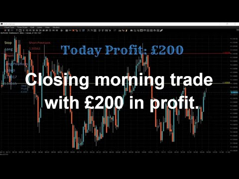 £200 In Profit For Start. Live From London - Forex Trading Session.