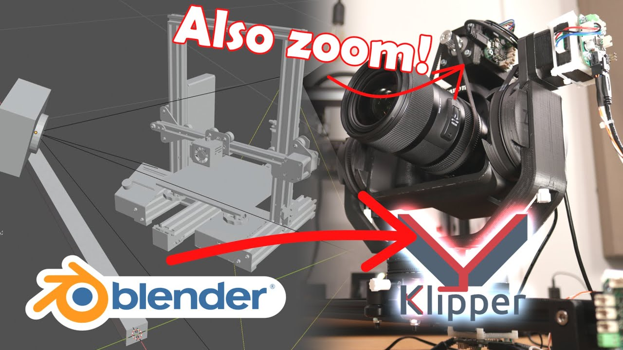 Klipper controlled cam slider programmed in Blender: From animation to reality!
