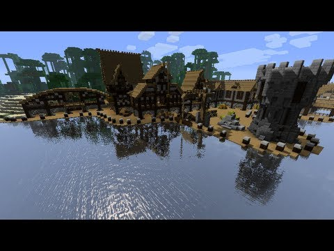 Minecraft Medieval Harbor Timelapse