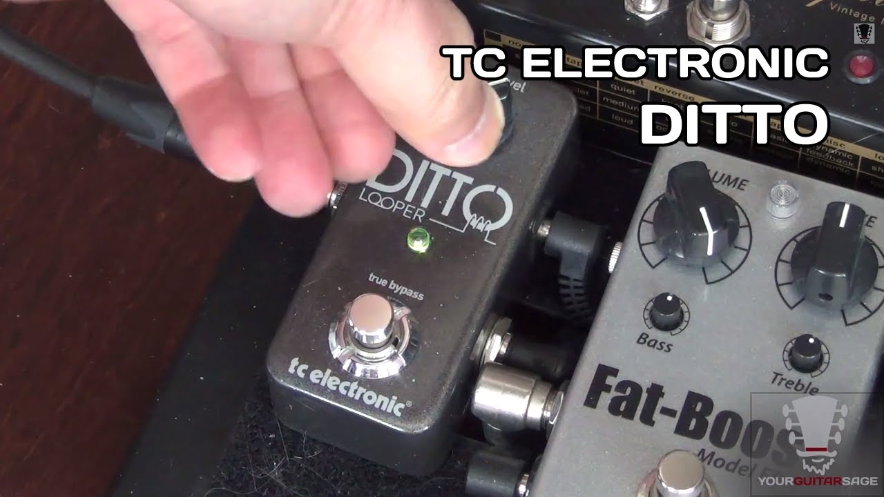 tc electronic ditto looper gear review demo youtube. Black Bedroom Furniture Sets. Home Design Ideas
