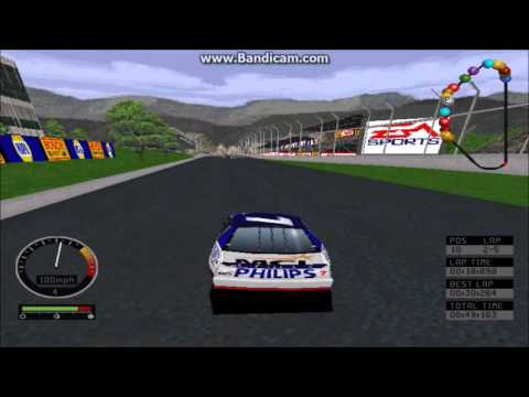 NASCAR Road Racing (PC) Gameplay (Michael Waltrip) (Bridgeport Speedway) (5 Laps)