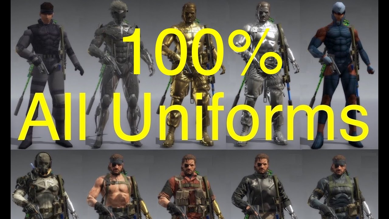 MGSV: Phantom Pain - All Snake Uniforms (5% Complete) Metal Gear Solid 5