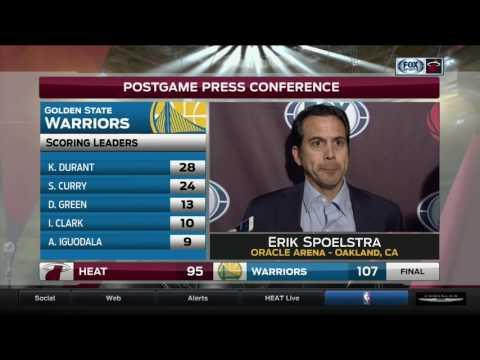 Erik Spoelstra -- Miami Heat at Golden State Warriors 01/10/2017