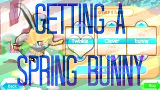 Animal jam: GETTING A SPRING BUNNY!