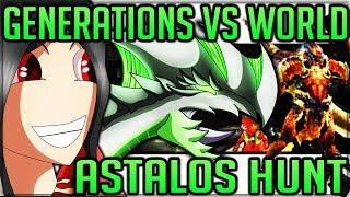 Monster Hunter World VS Monster Hunter Generations Ultimate + Nostalgia Trip Astalos Hunt Fun!