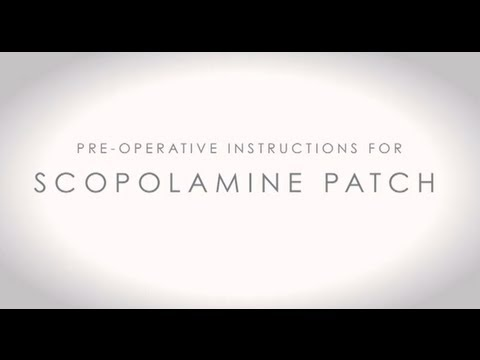 Video about Scopolamine Patch Instructions