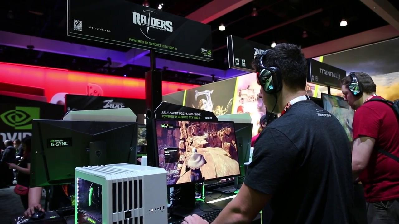Nvidia Booth at E3 2017