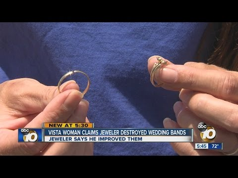 Vista couple claims Oceanside jeweler destroyed their wedding rings