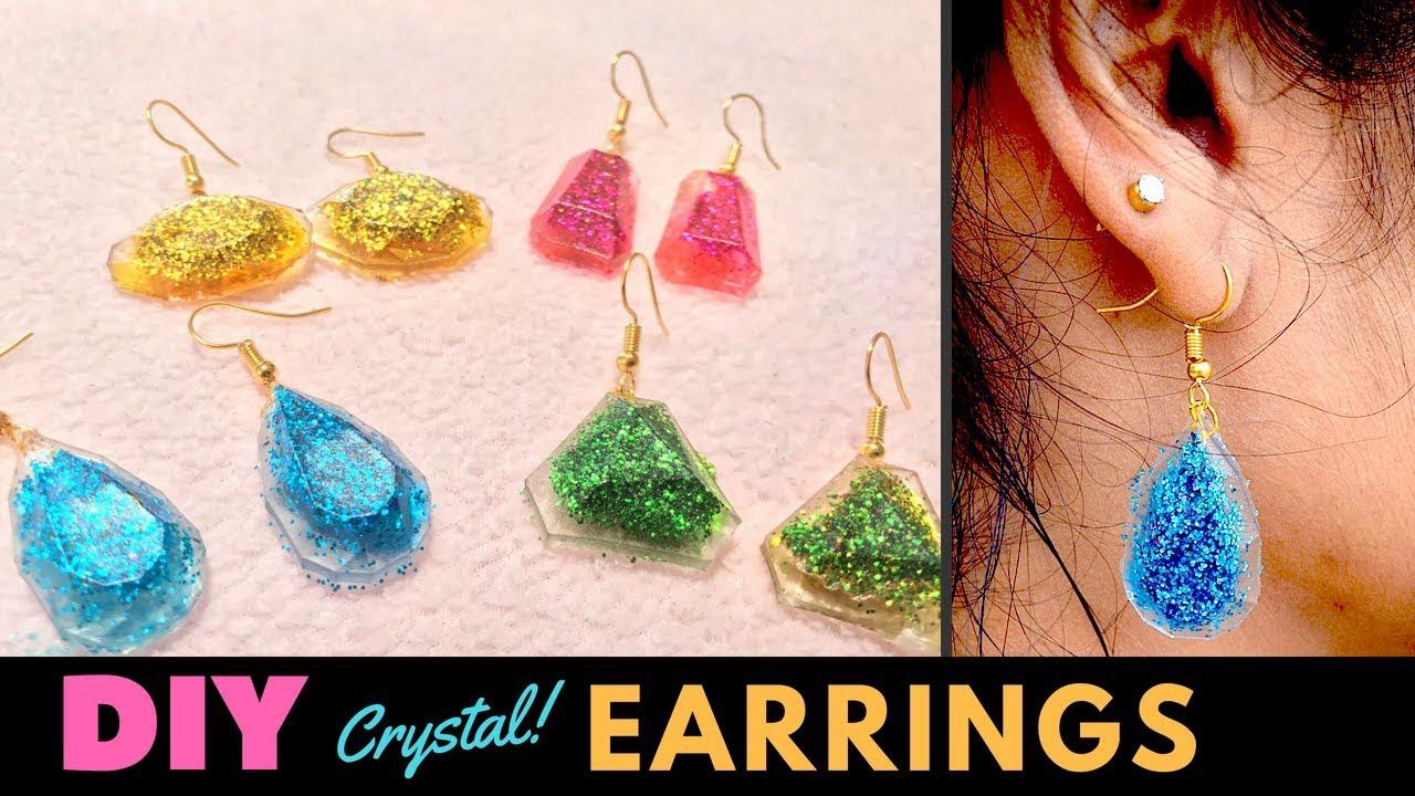 Crystal Earrings Making At Home Diy Jewellery Making Ideas