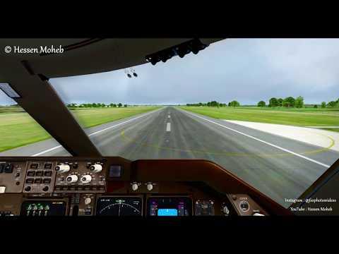 Virgin Atlantic Boeing 747 Landing At Manchester Cockpit View